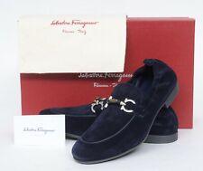 NIB Salvatore Ferragamo Celso Blue Gancio Horsebit Loafer Shoes 7 1/2 EE