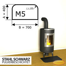 Kaminbodenplatte Funkenschutz ► Ofenplatte Kaminofenplatte ◄ Stahl schwarz M5