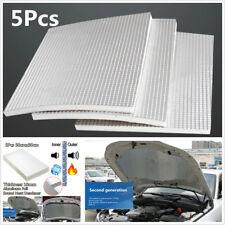 5pc Car Firewall Ceiling Door Hood Trunk Sound Deadener Heat Insulation Pad 10mm