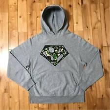 A BATHING APE Swarovski BA Logo Hoodie Gray Size M Men's Tops