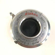 Alphax Wollensak Heavy Duty Anastigmat Shutter Camera Lens Vintage