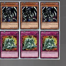 6 Card Set - Red-Eyes Black Metal Dragon MIL1-EN035 + Metalmorph MIL1-EN045