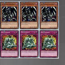 6 Card Set - Red-Eyes Black Metal Dragon MIL1-EN035 + Metalmorph MIL1-EN045