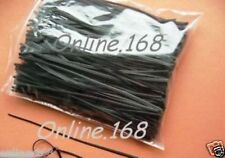 "Plastic Coated Wire Ties Twist Ties 1000pcs 6""/150 mm BLACK -  FREE P&P"
