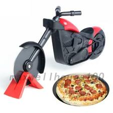 Pizza Wheel Cutter Chopper Slicer Kitchen Gadget Motorcycle Stainless Steel UK