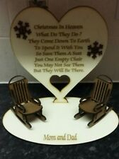 christmas in heaven plaque Personalised