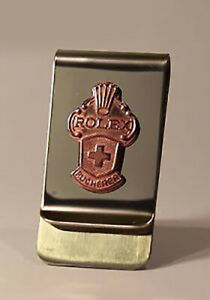 Genuine Rolex Collectors Spoon Money Clip, Rose Gold dipped