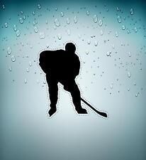 Autocollant sticker voiture moto hockey hockeyeur patin glace crosse r2