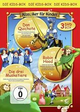 Klassiker für Kinder 2 - Boxset mit 3 Filmen (Robin Hood, Don Quichote, Di (OVP)