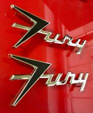 "1959 Plymouth ""Fury"" Emblem SET REPRODUCTION"
