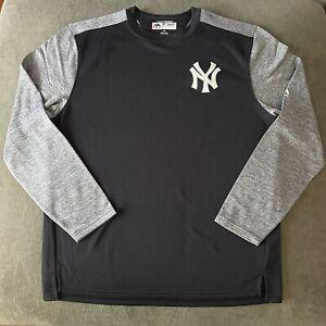 NEW YORK YANKEES. MAJESTIC Premium Therma Base Fleece Sweatshirt MLB Base L NWOT