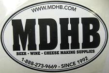 MDHB, MARYLAND HOMEBREW beer & wine supply STICKER, LabeL, Columbia, MARYLAND
