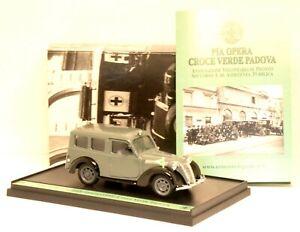 """S03/15 modellino auto BRUMM 1:43 - 1951 FIAT 1100 ambulanza """"CROCE VERDE PADOVA"""""""