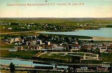 Postcard Head of Courtney Bay and Proposed G.T.P. Terminal St. John NB Canada