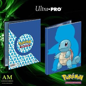 Ultra Pro - Pokemon 4-POCKET Portfolio Squirtle - Nuovo / Originale Tauschalbum