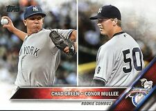 CHAD GREEN ~ 2016 Topps Update Baseball Rookie Card RC #US3 ~ Effingham Illinois