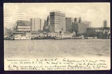 Old Postcard written in 1906 The Battery NEW YORK CITY à Eugène CROZIER de LYON