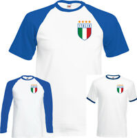 Retro Italia Football T-Shirt Top World Cup 2018 Italy Italian Footy Jersey Kit