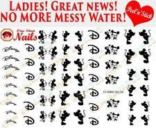Disney Minnie and Mickey clear vinyl PEEL and STICK nail decals CV-MBW-002-58