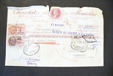 """ANCIEN MANDAT D' ORDRE  1937   NANCY    - """" CHOCOLAT STANISLAS  """"  ! A VOIR"""