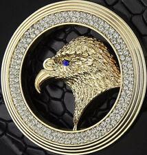 Águila Diamantes Hombre Mujer Hebilla Sólo Para 38MM Cinturón Unisex Hebillas