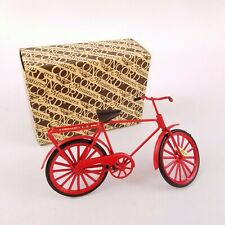 Vtg Concord Miniatures Red Bicycle 1' to 1' Scale #6282
