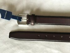 Cole Haan Leather Belt Dark Brown Style CHRM31203 (size: 40)