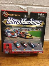 Nascar Micro Machines Jeff Gordon Green Flag Series Toy Car Set Winners Circle