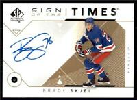 2019-20 UD SP Authentic 2018-19 Update Sign of the Times Auto SOTTBS Brady Skjei