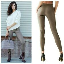 💋 $348 GUESS ELENA ZIP-ANKLE LEATHER LEGGINGS 💋