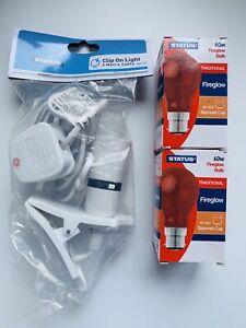 Chick Brooder Kit/Vivarium Spares(Chicks,Ducklings, Quails) Heat lamp & 2x bulbs