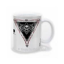 *HOWLING* Alchemy Gothic Fantasy Goth Skull Art White Chunky Coffee / Tea Mug