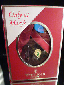 MNIB MACY'S EXCLUSIVE -WATERFORD CRYSTAL 2012 CLEAR LISMORE ANNUAL BALL ORNAMENT