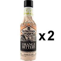 Fee Brothers Gin Barrel-Aged Orange Cocktail Bitters – 5 oz - Pack of 2 - Flavor