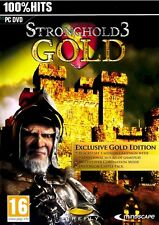 STRONGHOLD 3 GOLD EDITION for PC XP/VISTA/7 SEALED NEW