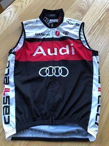 Castelli Audi Cycling Team Vest MENS SZ Medium. Garmin Specialized Red Hook