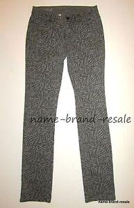 Ann Taylor NWT Modern Fit SKINNY Jeans Womens 2 Gray ZEBRA PRINT Slim Leg