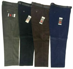 MENS LUXURY CORDUROY CORD TROUSERS COTTON FORMAL CASUAL SMART WAIST 30-50 FIT