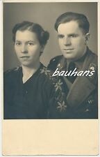 Portrait-Foto Soldat-Sturmgeschütz Abt. 203  mit Frau (a463)