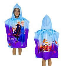 Official Disney Frozen 2 Hooded Poncho Towel Microfibre Girls Gift  2-6 Year