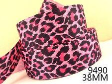 """Pink Leopard Print cinta 1"""" Ancho 1 M es sólo £ 0.99 Nuevo"""