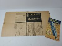 1960's Vintage IMC LEAR JET AIRPLANE 1/48th Scale MODEL KiT instructions