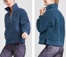 NWOT Joy Lab Women Fleece Jacket Sherpa Blue Small Teddy Coat