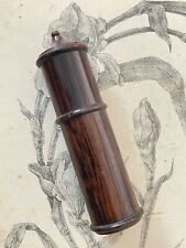 Ancien Porte Aiguilles en bois tourné - boite écrin - collection couture