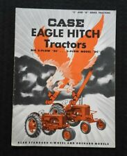 "GENUINE 1953 CASE ""2-PLOW SC 3-PLOW DC EAGLE HITCH TRACTOR"" CATALOG BROCHURE"