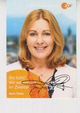 ZDF Autogrammkarte Karin Thaler Rosenheim-Cops SOKO ARD Hubert ohne Staller RTL