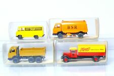 Wiking 4 piezas MB Camión - maggis - BSR - rastra, Tegel - 1:87 / H0, emb.orig