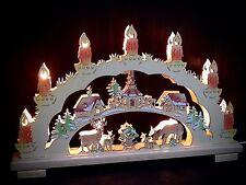 3D Arc à lumière à bougies animaux dans la forêt Rehe 45 CM PEINT 10 10227
