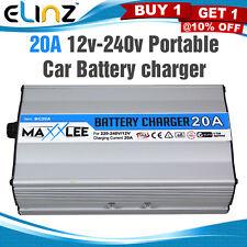 20A Portable Car Battery Charger Boat Caravan Motorcycle Vehicle 12v-240v 20AMP
