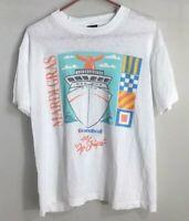 "Vintage Single Stitch Mardi Gras Carnival Cruise the ""Fun Ships"" White T Shirt L"
